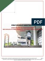 Protocole sanitaire 22 juin