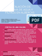 INSTALACION DE SISTEMA DE AGUA Y FILTROS EN ALBERCAS