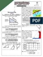 Apostila de Trigonometria (7 páginas, 30 questões)