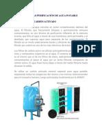 Tecnologias Purificacion de Agua