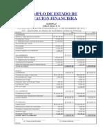 EJEMPLO DE ESTADO DE SITUACION FINANCIERA