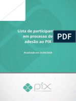 Lista de Participantes do PIX Banco Central do Brasil