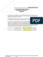 B101 Business Plan Template 12Oct10 for Students
