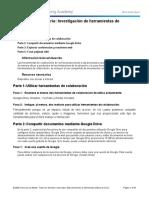 1.1.1.8 Práctica de laboratorio_Investigación de herramientas de colaboración de red