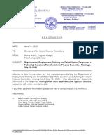 DETR Responses to IFC