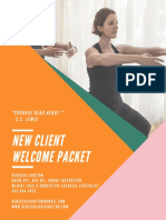 personal training new client welcome packet