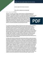 2009 LaBar, K., Cabeza, R. Cognitive neuroscience of emotional memory. ES