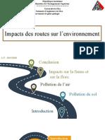Impacts des routes sur l'environnement