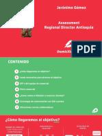 Assessment Regional Director Antioquia - Jerónimo Gómez