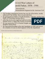Select Civil War Letters of George Harold Parker