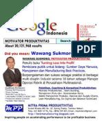 Google & Wawang Sukmoro Motivator Produktivitas