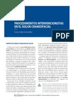 Procedimientos intervencionistas en el dolor craneofacial. Las cefaleas