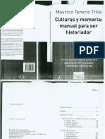 Tenorio Mauricio - Culturas y Memoria manual para ser historiador (Opt y OCR).pdf