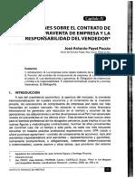 Reflexiones Sobre el Contrato de Compraventa de Empresa y la Responsabilidad del Vendedor.pdf