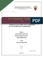 Caso Integrador. Capítulos v y VI. Equipo 4