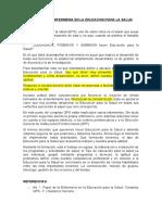 PAPEL DE LA ENFERMERIA EN LA EDUCACION PARA LA SALUD