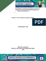 Evidencia 5 Taller Indicadores de gestión logística