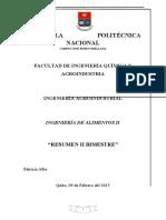 INGENIERÍA DE ALIMENTOS II - RESUMEN SEGUNDO BIMESTRE - PATRICIA ALBA