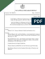 Full Saskatchewan's Court of Appeal Reference
