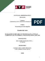 EJEMPLO DE ESTADO DEL ARTE ACTUALIZADO - BALANCED SCORECARD Y VENTAJA COMPETITIVA - ELIO GONZALES