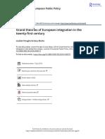 Grand theories of European integration in the twenty first century