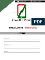 SIMULADO DE PORTUGUES 7  ANO
