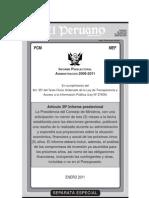 Informe Preelectoral Administración 2006 - 2011