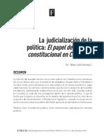 La judicialización de la política. El papel de la corte constitucional en Colombia