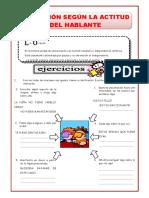 EJERCICIOS DE ORACIONES