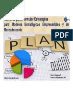 Acciones para Formular Estrategias para Modelos Estratégicos Empresariales y de Mercadotecnia