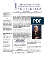 Friends of the P. I. Nixon Medical Historical Library Newsletter 2010