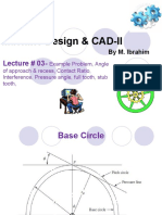 Lecture 3 gears Machine Design _ CAD-II ..Example...Contact Ratio...interference...