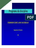 0 - Programa da Disciplina