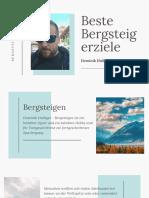 Beste Bergsteigerziele - Dominik Hulliger