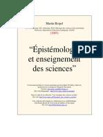 Épistémologie et enseignement des sciences