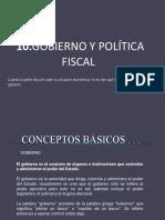Gobierno y política fiscal de fecaha 10_2018