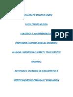 U2 ACT1 Creación de argumentos e identificación de premisas y conclusión
