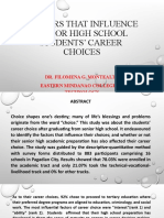 Career choices of shs students