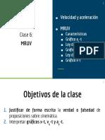 6. MRUV (parte 1) DIAPOSITIVAS