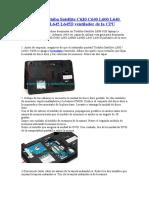 Reemplace Toshiba Satellite C630 C640 L600 L640 L600D L640D L645 L645D ventilador de la CPU.doc