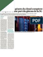 20200618 - Les Echos - Comment les géants du cloud comptent s'emparer d'une part du gâteau de la 5G