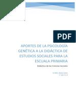 APORTES DE LA PSICOLOGÍA GENÉTICA