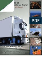 Export Management - Information Brochure