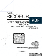 Interpretation Theory Discourse and the Surplus of Meaning by Paul Ricoeur, Ted Klein (z-lib.org).pdf