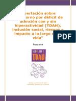 Programa sobre el abordaje al TDAH