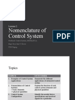 2. Nomenclature of Control System