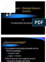 Bloque I – Psicología General y Evolutiva