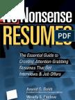 No Nonsense Resumes