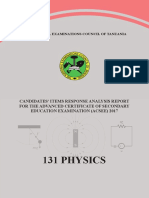 ACSEE 2017 PHYSICS  EXAMINER REPORT.pdf