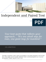 Independent and Paired Population Test